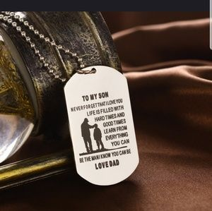 Other - Son necklace from father dog tag